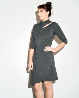 kaseee Kleid mit Stehkragen Jersey