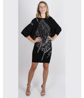 kaseee Kleid legere mit großem Ausschnitt