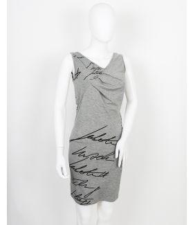 kaseee Kleid schlicht asymmetrisch ohne Ärmel