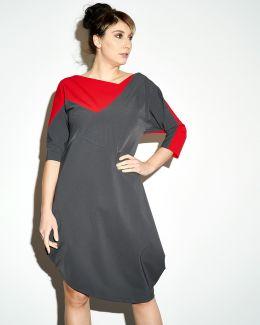 kaseee Kleid aus Funktionsstoff zweifarbig